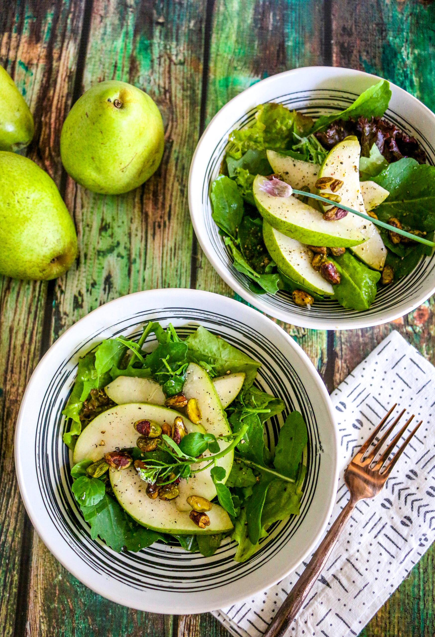 Jade Pear Pistachio Salad