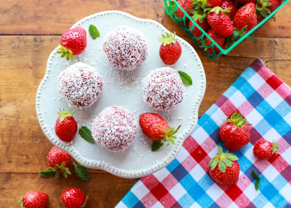 Kids Strawberry Coconut Energy Bites